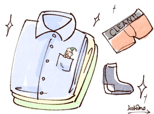 毎日服を取り替える